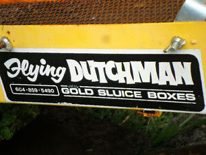 flying Dutchman gold sluice for trade