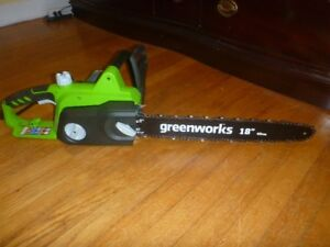 NEW GREENWORKS ELECTRIC CHAIN SAW
