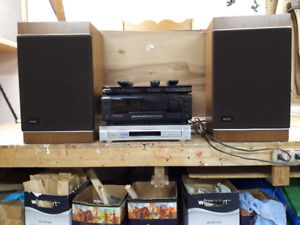 Stereo Receiver--- Video Cassette--- CD player