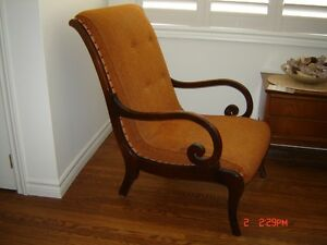 Antique high back chair London Ontario image 2
