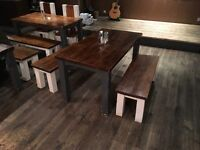 Rustic Chunky Tables and Chairs