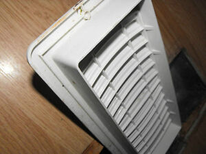 Furnace registers white plastic slide open/close all are new