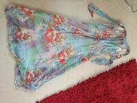 Summer halterneck dress size 12 floral pastel colours
