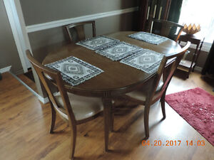 Solid Wood Dining Room Set - 6 Chairs