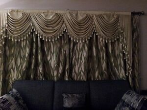 Brand new curtains with matching valances