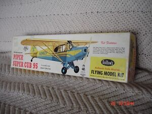 Vintage balsa model airplane kit.