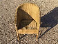 2 wicker rattan chairs