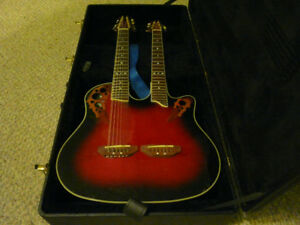 Ovation 6/12 Double Neck Acoustic/Electric Project Guitar