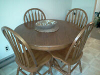 Very sturdy dining room table with 4 chairs