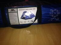 Trespass tent used 1ce