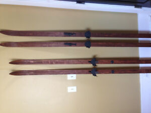 For Sale:  Two sets of Vintage cross country skis.