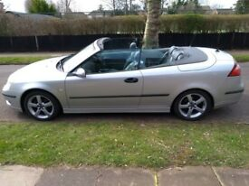 Saab 9-3 Convertible 2.0 Turbo SE Automatic 2004 Low mileage, very good condition, MOT March 2019
