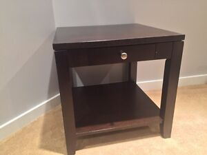 Solid wood side table Strathcona County Edmonton Area image 2