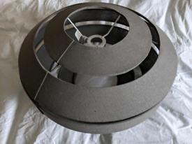 Grey retro fabric lightshade