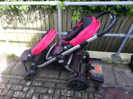 Baby Jogger City Select Pram Pushchair Stroller + Buggy Board, extras