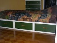Set de chambre à coucher pour enfant ou adolescent en bois