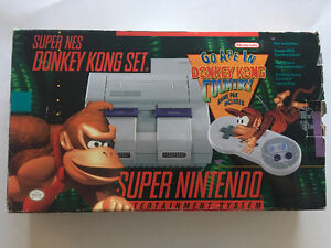 Console Super Nintendo Donkey Kong Country Complet SNES CIB