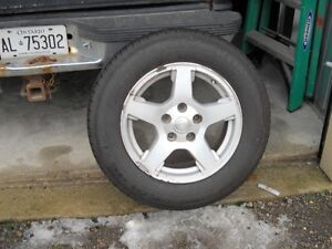 4 KUMHO TIRES ON 17  IN  JEEP RIMS