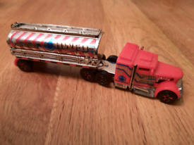 Hotwheels fire lorry and car and boat
