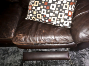 Real leather 3 seat couch