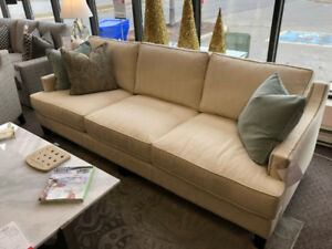 Protected Fabric Sofa with feather fill - Clearance SALE