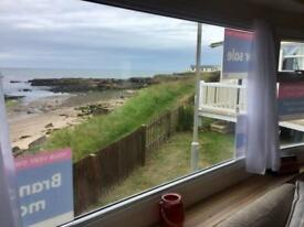 BRAND NEW STATIC CARAVAN FOR SALE ON SEA VIEW PITCH. NORTHUMBERLAND COAST.