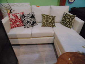 Brand New Condo Size White Sectional (Trail)