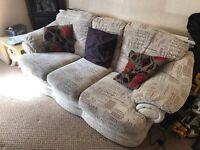 Sofa Three Seater + Armchair