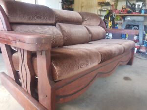 Wood couches for sale