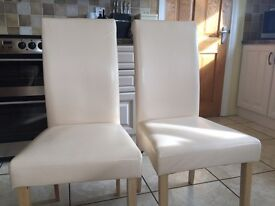 6 leather effect chairs (hardly used)