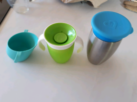 Three baby/ toddler cups