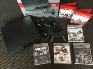 PS3 320gig + Ass Creed - NHL - GT5 - COD... - 140$