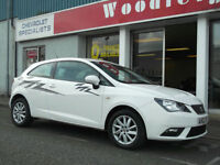 12/62 SEAT IBIZA 1.2 SE ECO DIESEL, 3 DOOR,UPTO 5 YEARS 0% FINANCE AVAILABLE OR