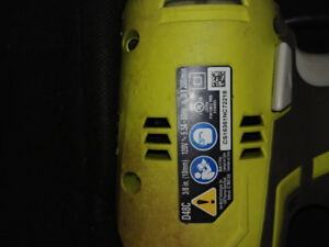 Ryobi corded 3/8inch drill with carrying case.