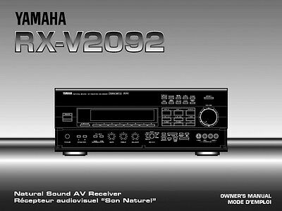 Yamaha RX-V2092 Receiver Owners Manual