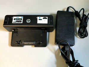 HP 230W Advanced Docking Station & Adapter for Probook Elitebook