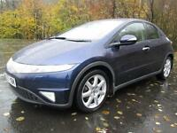 07/57 HONDA CIVIC 2.2 CTDI EX 5DR HATCH IN MET BLUE WITH SERVICE HISTORY