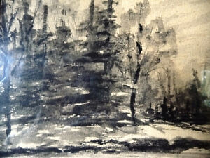 "Original Northern Landscape Watercolor by K.Rooney  ""Shoreline"" Stratford Kitchener Area image 6"