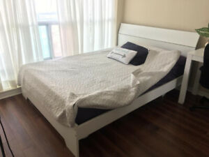 Barely Used Double / Full Bed Frame and Mattress