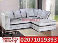 Crushed Velvet Corner Sofa--Order Now!