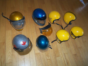 Plusieurs casque VINTAGE vtt, ski doo, motoneige