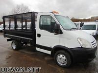 2009 09 IVECO DAILY TIPPER, CAGE SIDES, DROPSIDE, PICK UP, ONE OWNER, EX COUNCIL