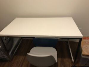 Desk for the office or computer white color