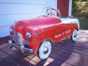 Original 1940's Thistle Pedal Car.