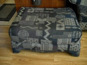 Large Sofa Chair with Foot Stool for sale. Windsor Region Ontario image 2