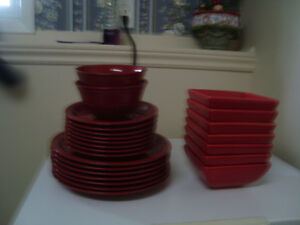 Red Kitchen Dishes