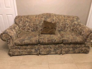 3 seater, love seat and a chair