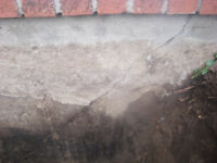 Foundation cracks and waterproofing