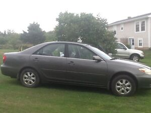 2003 Toyota Camery, grey, 2 new tires