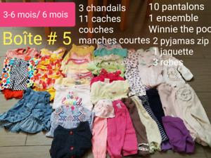 Lot vêtements bébé fille 3-6 mois /6mois